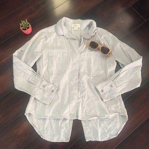 Cloth & Stone Denim Shirt with Tails